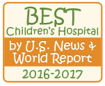 Best Children's Hospital by U.S. News & World Report 2016-2017