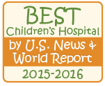Best Children's Hospital by U.S. News & World Report 2015-2016